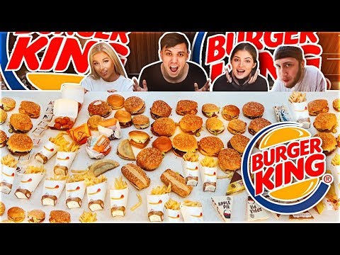 ENTIRE BURGER KING MENU IN 10 MINUTES CHALLENGE (200,000 Calories)