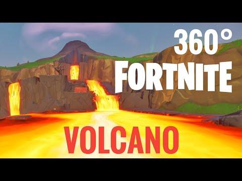 [360 video] Fortnite 360° Volcano VR Box Google Cardboard Season 8