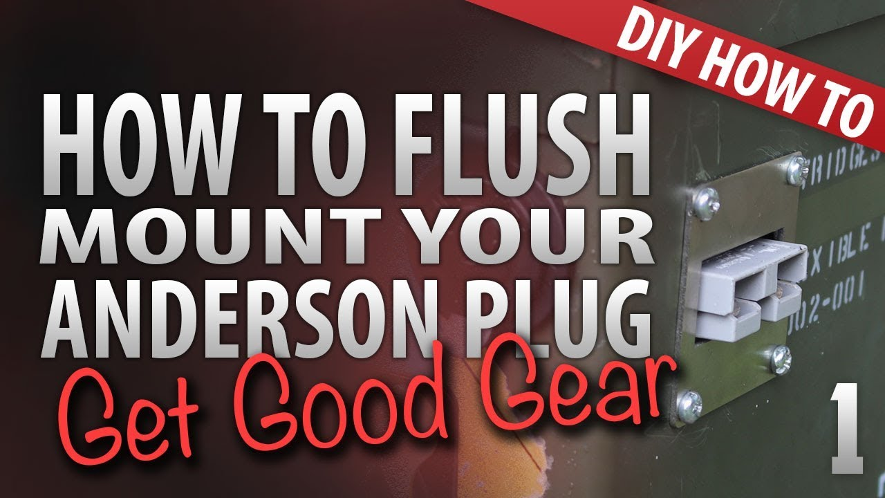 How to flush mount an anderson plug easily mount your own anderson how to flush mount an anderson plug easily mount your own anderson plug asfbconference2016 Images