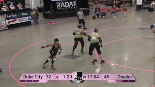 Omaha Rollergirls v Duke City Roller Derby: 2013 WFTDA D2 Playoffs in Des Moines