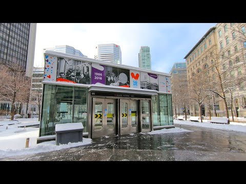 Downtown Montreal Metro Station (Square-Victoria OACI - Orange Line) #montrealmetro