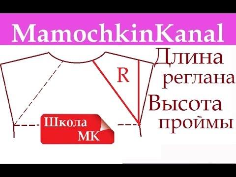 Длина регланной линии или Высота проймы Высота кокетки без примерки Школа МК