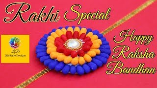 Easy Rakhi Designs : How to Make Rakhi at Home | Handmade Rakhi | Rakhi Designs for Competition