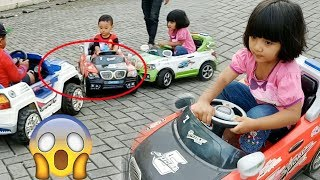 Power Wheels ride on cars for kids Family Fun Play Area Playground with family