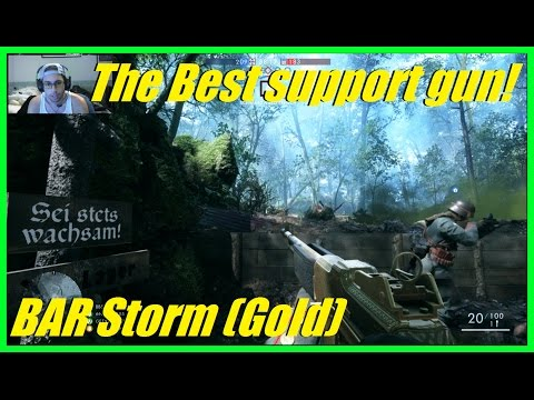 Battlefield 1 - The best support gun to use! | Gold BAR storm! | Crazy powerful lmg! (60+ kills)