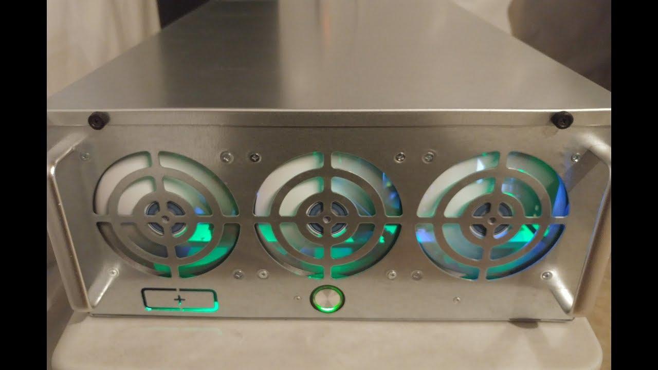 MINING RIG FRAME 4U ENCLOSED CASE FROM EBAY 4U 6-8 GPU CASE REVIEW GTX 1070  1070Ti