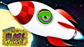 - ХИЩНЫЙ СЛИЗЕНЬ ЛЕТИТ НА ЛУНУ Мультяшная игра для детей про ГОЛОДНОГО СЛИЗНЯ Mutant Blobs Attack