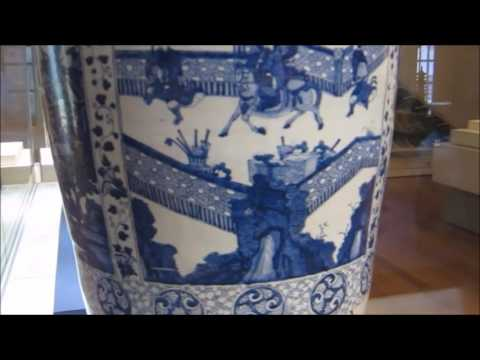 Kangxi Blue And White Big Vase With Decoration Of Battle Scene Youtube