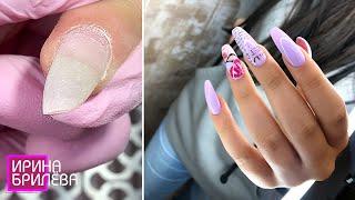 Маникюр в 15 лет ЧТО ДЕЛАТЬ если ногти скручиваются Ирина Брилёва