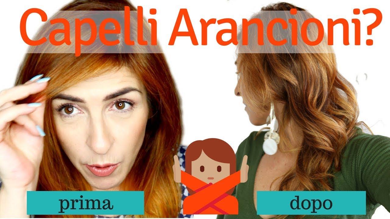 Come Ho Rimosso L Arancione Dai Capelli Balayage 2 0 Youtube