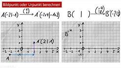 Ur- und Bildpunkt berechnen (Parallelverschiebung)