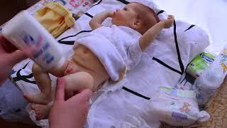 Обложка на видео о вечер с куклой реборн/пеленание реборна / Reborn Dolls