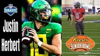 Justin Herbert | 2020 Senior Bowl FULL Week Practices & Game | 2020 NFL Draft