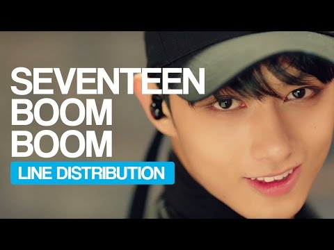 SEVENTEEN - BOOMBOOM Line Distribution (Color Coded)