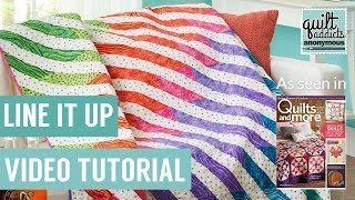 Line It Up - Beginner Paper Piecing pattern in Quilts and More Magazine
