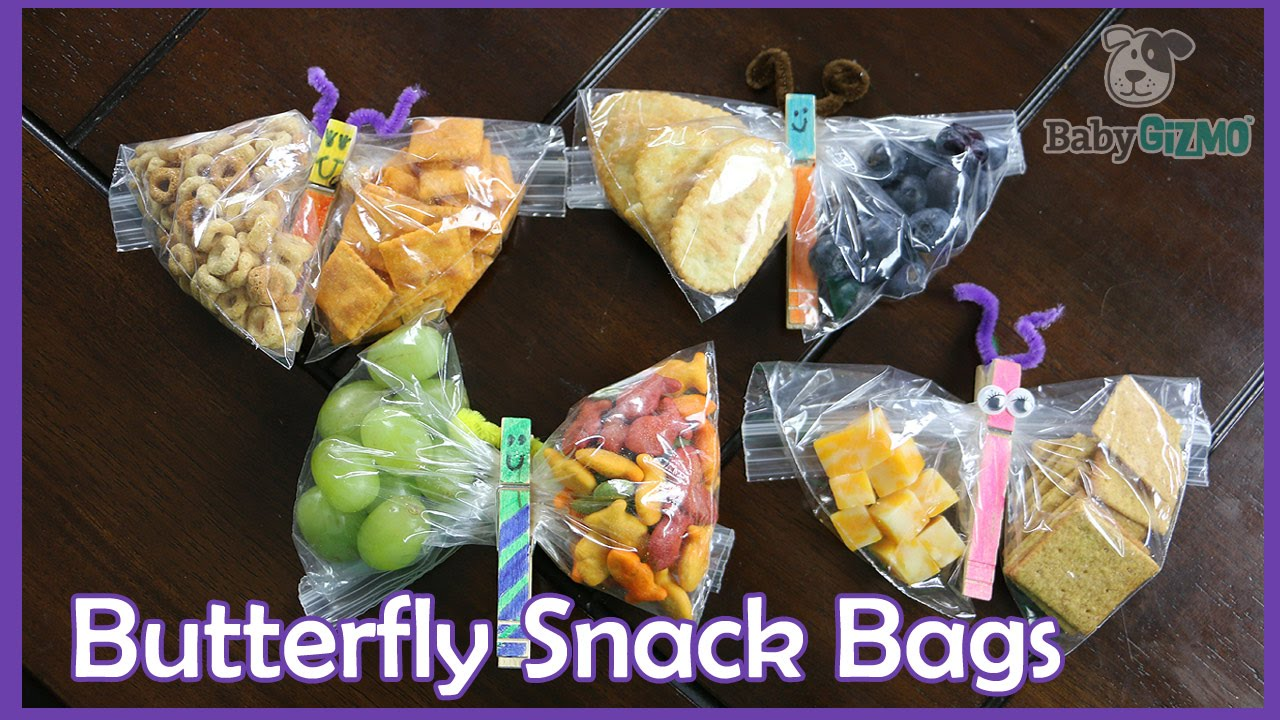 Back To School Diy Butterfly Snack Bags Youtube