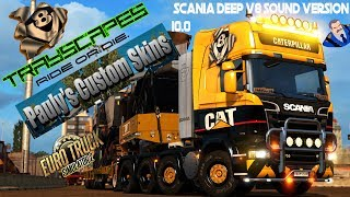 Scania Caterpillar combo with deep V8 sound Version 10