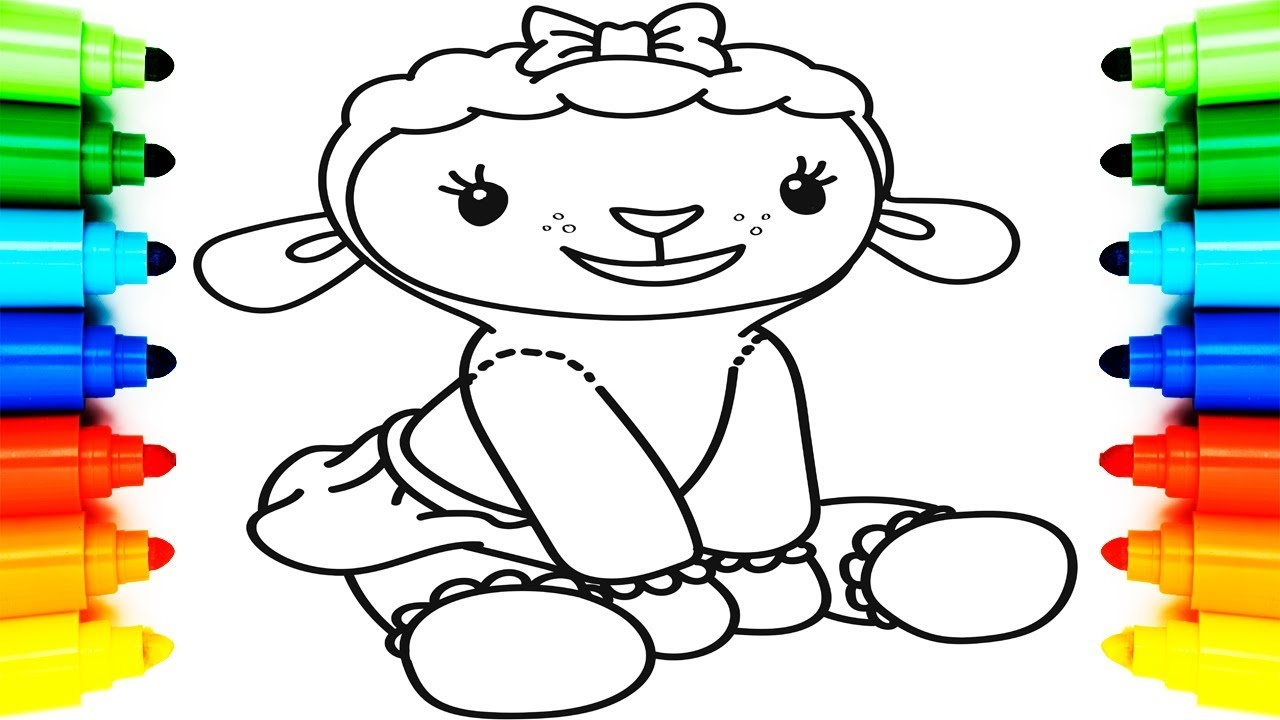 How To Draw Lambie Doc Mcstuffins Coloring Pages For Kids