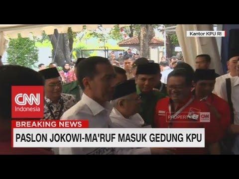 Begini Suasana Iring-Iringan Jokowi-Ma'ruf Menuju KPU