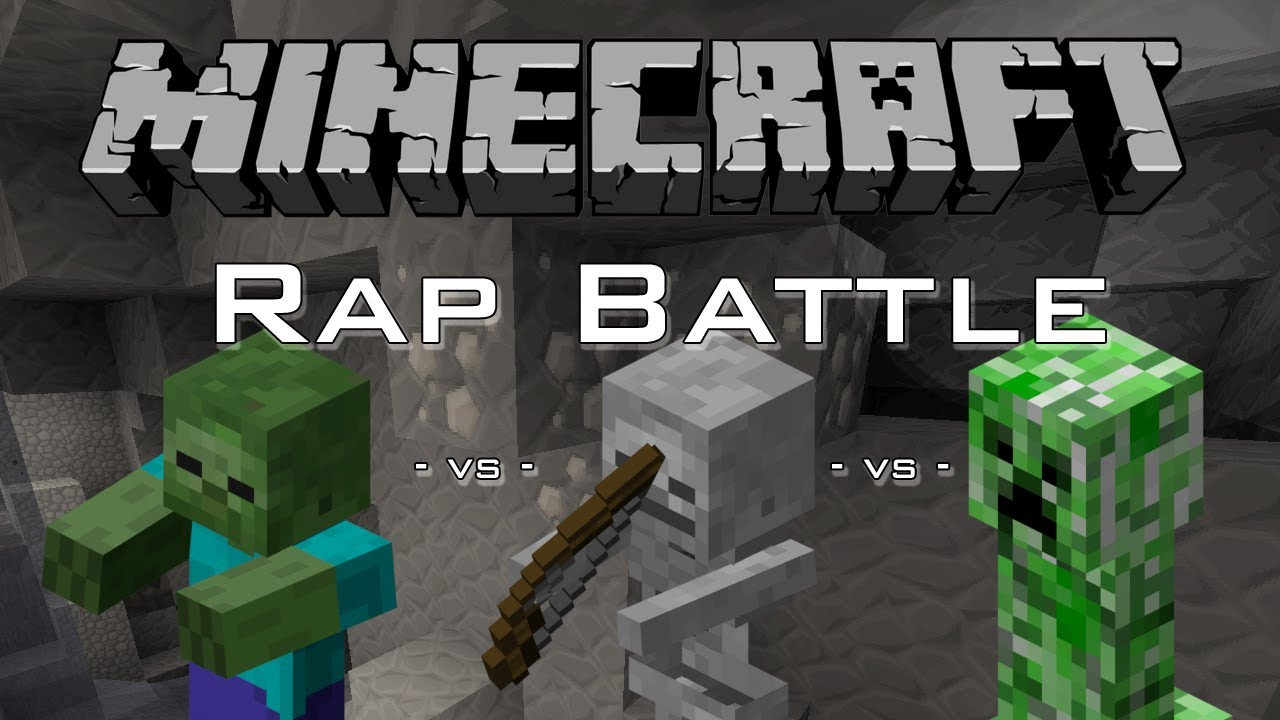Minecraft rap battle skeleton vs zombie vs creeper - Minecraft zombie vs creeper ...