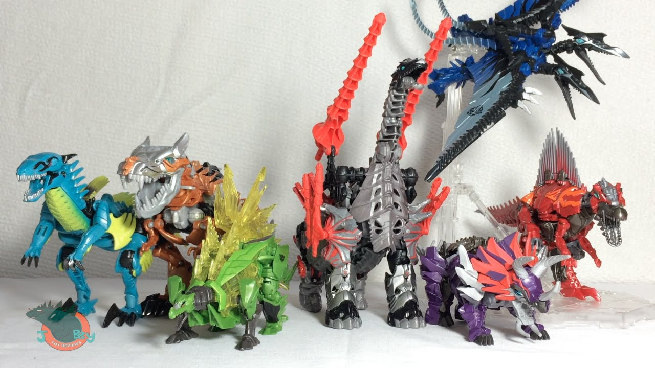transformers 4 age of extinction all dinobots review youtube