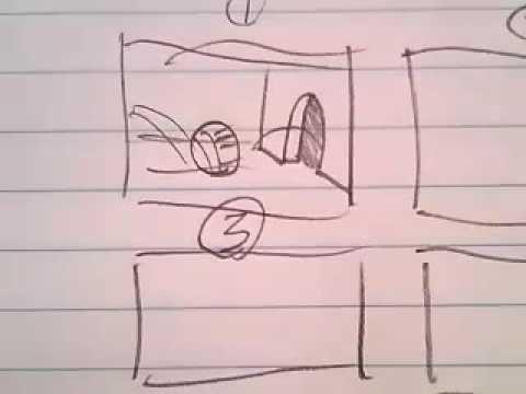 "Cosmic Kittens ""Making Storyboard Lesson"" - Brandon Ray Paper Animation"