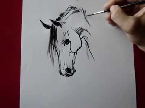 Уроки рисования.Рисуем лошадь.