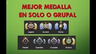 Â¿Como Tener Una Mejor Medalla en Solitario o Grupal?