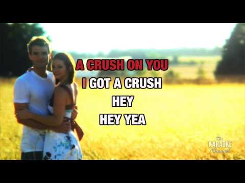 Crush in the style of Mandy Moore | Karaoke with Lyrics
