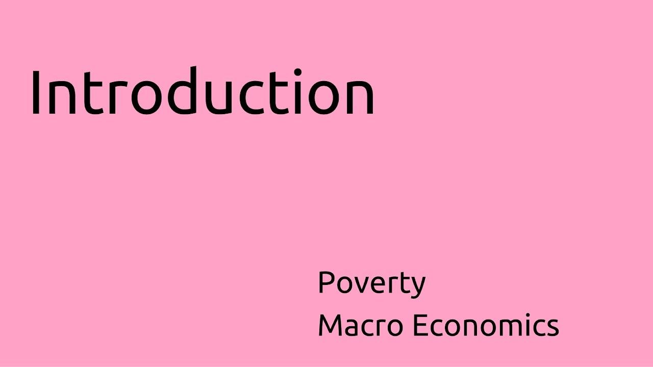 macroeconomics poverty