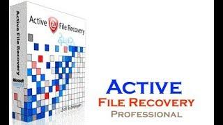 """Active File Recovery Professional + serial """"Recupere arquivos apagados ou formatados do HD"""""""