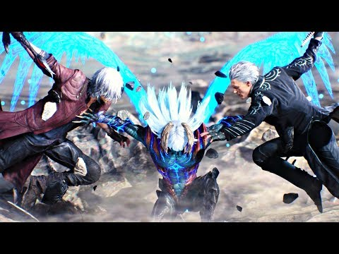 Devil May Cry 5 - Final Boss & Ending + Secret Ending (DMC5 2019) All Endings