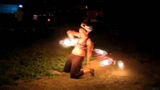 Hula Hoop Ring of Burning Fire
