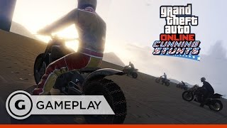 Biking the Trench in 2.5K - GTA Online: Cunning Stunts Gameplay