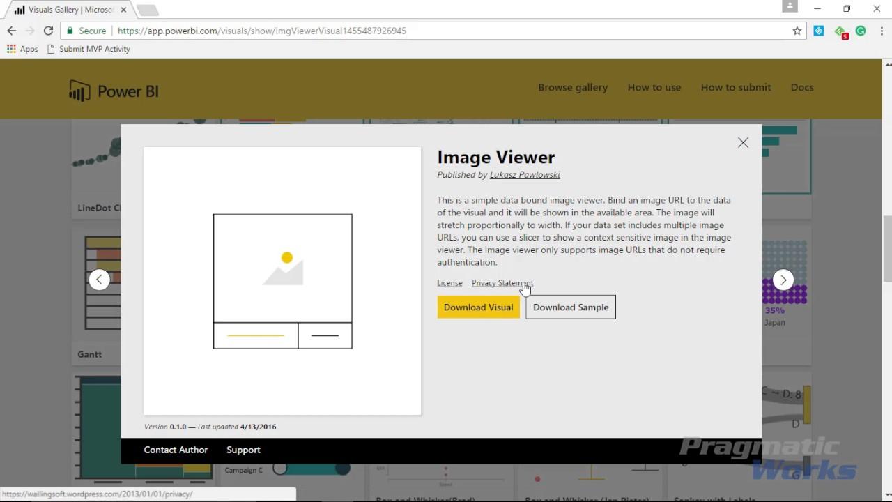 Power BI Custom Visuals - Image Viewer