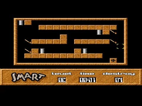AMIGA SMART THE GAME MADE WITH AMOS LUDEK ROLECEK & PETR ZNOJENSKY ITS LIKE Sokoban with explosions |
