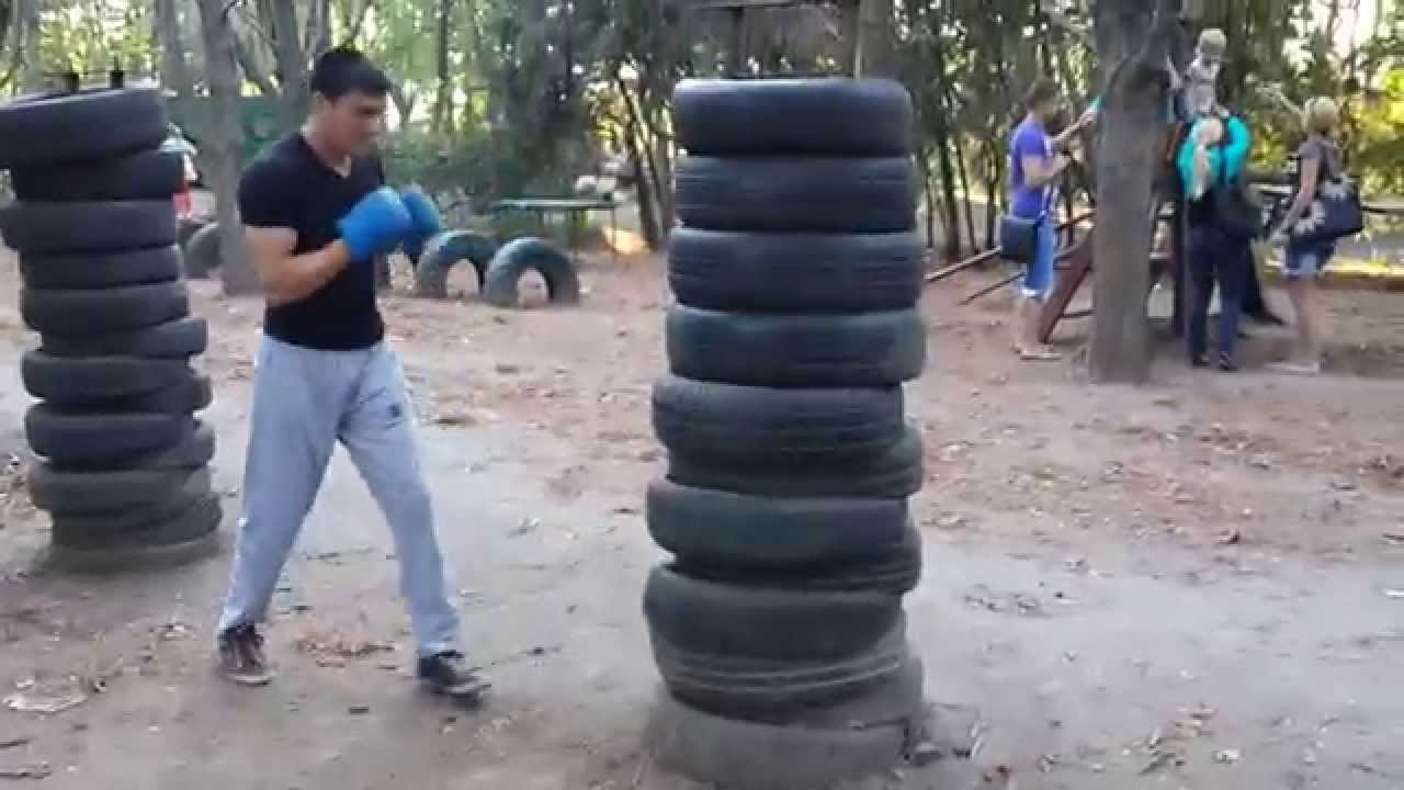 Boxing Power Punches, tyre punching - YouTube