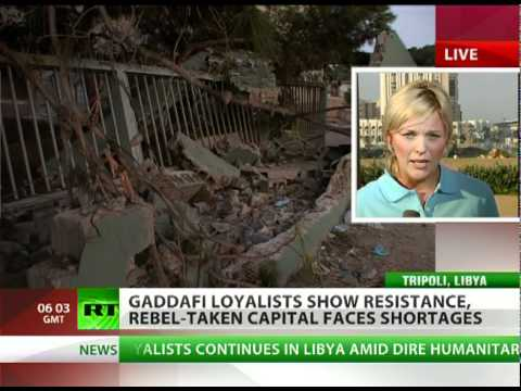 No police, water or gas in Tripoli. And no Gaddafi