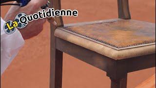 La quotidienne : Démonstration aérogommage sur bois avec une Ro-K-SAB