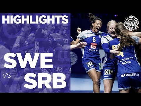 Sweden vs Serbia | Highlights | Women's EHF EURO 2018