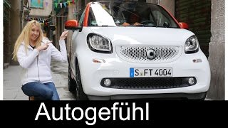 Smart fortwo FULL REVIEW & comparison vs Smart forfour test drive all-new neuer 2016 - Autogefühl
