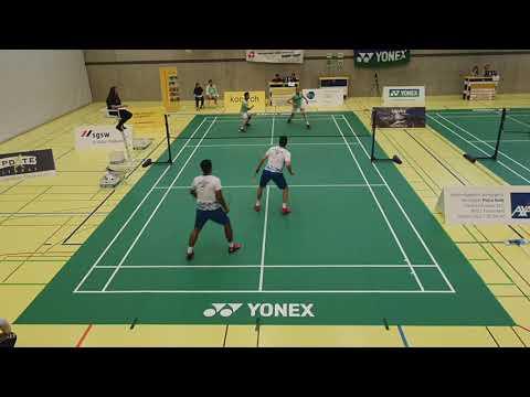 SWISS BADMINTON NL A: BC ZÜRICH VS BV STGALLEN-APPENZELL Men's Double (2 Indonesian Players)