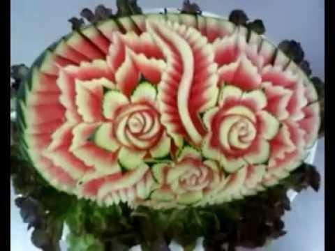 Tallados y decoraciones en frutas y verduras nautilus 2 - Decoracion de frutas ...