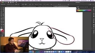 Adobe Illustrator - Bunny Vector Tutorial