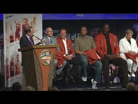Basketball legends introduced in Springfield ahead of enshrinement