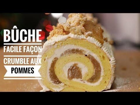 buche-crumble-aux-pommes-facile-pour-noël