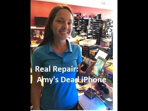 Real Repair Live!–Apple says Amy must replace her iPhone 6s, we say NOT!