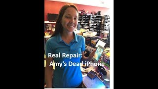 Real Repair Live!--Apple says Amy must replace her iPhone 6s, we say NOT!
