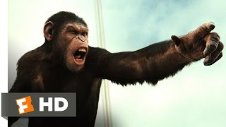 Rise of the Planet of the Apes (4/5) Movie CLIP - Battle for the Bridge (2011) HD