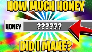 How Much Honey Did I Make? PREPARING FOR THE UPDATE In Roblox Bee Swarm Simulator